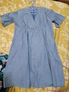 Dress biru 1x pakai