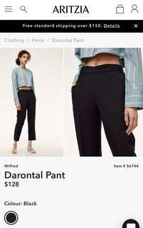 Aritzia Durontal Pant Size 2