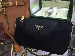 SALE TODAY PRADA CHAIN BAG WITH DUSTBAG AND CARDS
