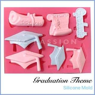 🎓 GRADUATION THEME SILICONE MOLD [Graduate Cup • Diploma • Certificate] Tool for Pastry • Chocolate • Fondant • Gum Paste • Candy Melts • Jelly • Gummies • Agar Agar • Ice • Resin • Polymer Clay Craft Art • Candle Wax • Soap Mold • Chalk • Crayon Mould •