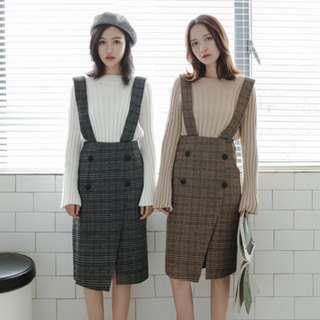 PINAFORE DRESS IN CHECKS