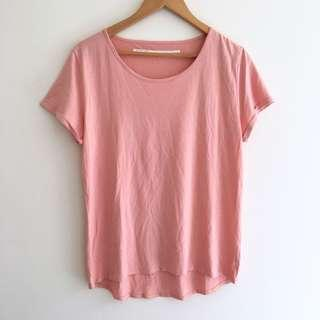 Nique Pink Bamboo/Cotton T-Shirt