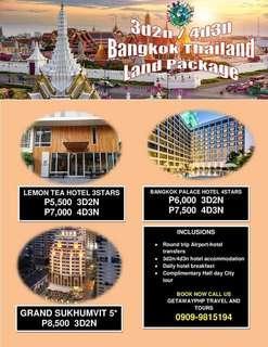 3d2n / 4d3n Bangkok Thailand Land Package