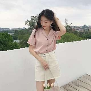 [PO] Ulzzang Collared Blouse