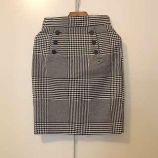 H&M square skirt 格仔裙