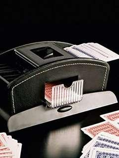 Automatic leather card shuffler