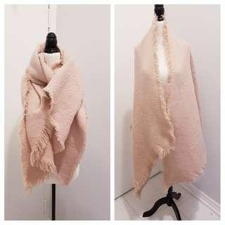 Oversized Urban Outfitters Scarf - Pale Pink