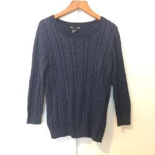 H&M Navy Blue knitwear Sweater