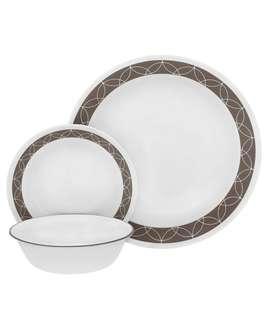 corelle glass dinnerware sand sketch 18 pcs