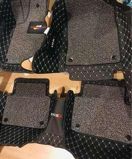 Civic FC leather loops double layer matting