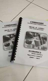 Economics IGCSE - Past Year papers
