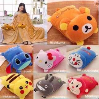 Pillow Blanket Stitch Pokemon Pikachu Hello Kitty