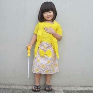 Setelan Batik Anak Kuning