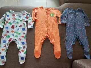 Pre loved sleepsuit 3 for 350