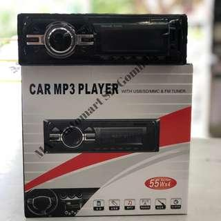 CAR MP3 PLAYER  With USB/SD/AUX/RADIO/CLOCK/MP3