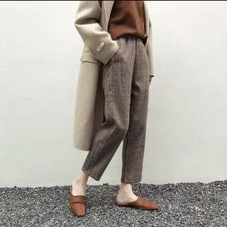 🚚 韓版格紋褲