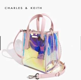 Charles and keith transparent bag