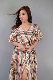 Wrap Around Dress LS