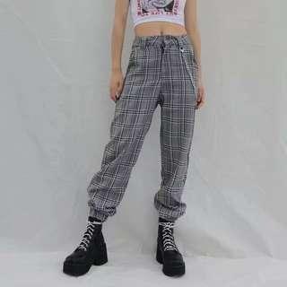 [PO] Plaid Hip Hop Pants + Chain