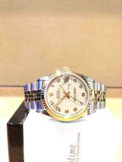Pre Owned Rolex Oyster Datejust 68273 Ivory Dial Automatic Steel Casing Bracelet
