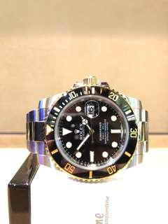 Pre Owned Rolex Oyster Submariner 116613LN Black Dial Automatic Steel Casing Bracelet