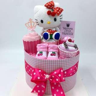 Hello Kitty Diapers Cake - Ready Stock!