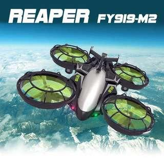 Best for Beginner, With safety propeller guard, REAPER RC Drone Quadcopter 0.3MP Camera Wifi FPV with Optical Positioning, Ready-to-Fly. Code: FY919-M2