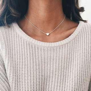 Elegant Heart Chain Necklace Classy Girls Necklace