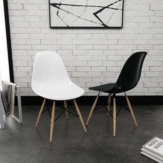 Office chair/Study chair/Dining chair/Eames chair/White,Bck