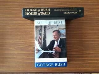 2 for $10: All The Best, George Bush; House of Bush, House of Saud #1212