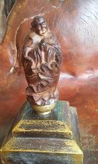 Hendel keris budha..kayu gaharu..10 cm..
