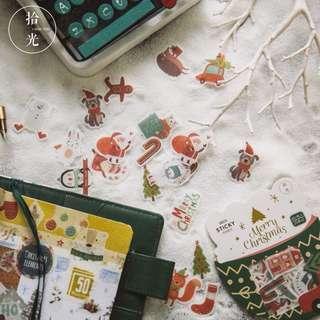 Christmas Sticker Flakes