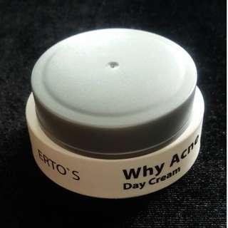 Erto's why acne day cream 12,5 gr isi masih 98%