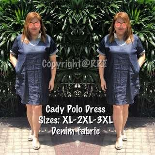 Cady plus size polo dress