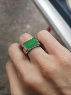 翡翠戒指💍,18K鑲嵌