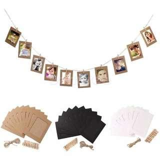 Photo Frame Yarn Hessian Peg Line Easy to Install Special Occasion Decor