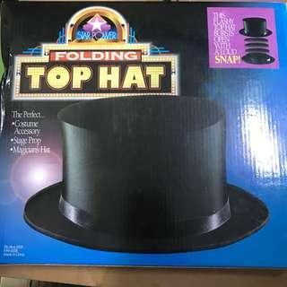 Folding magic top hat magician hat