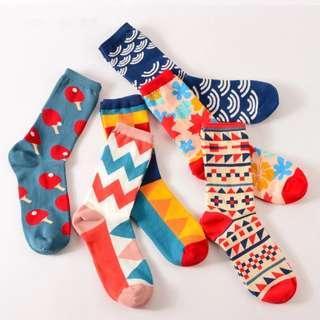 Cool Colorful Printed Socks School Business Girls Boys Socks (2PAIRS FOR $10)