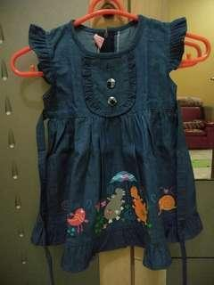 #momjualan denim dress