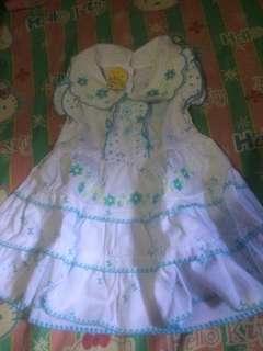 #ibujualan baju putih kembang