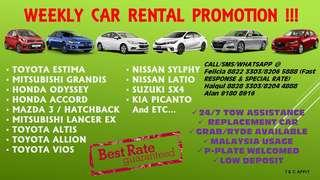 ‼️‼️🚨 WEEKLY CAR RENTAL PROMOTION 🚨‼️‼️ ☎️Call/SMS/Whatsapp for Booking/Reservation/Enquiries 🤘Felicia 8822 3303/8206 5888 (FAST RESPONSE & SPECIAL RATE) ✌️Haiqul 8828 3303/8204 4888 ✋Alan 9180 8916  T&C Apply.