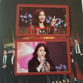 Twice Once Begins Dahyun/Chaeyoung Photocard