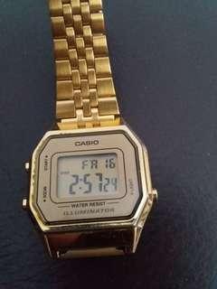 Ladies Casio Gold Colour Digital Watch