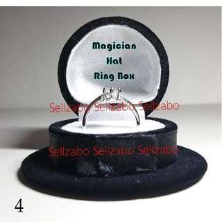 毕业礼物求婚结婚交换 戒指盒子 黑色 帽子