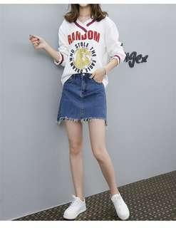 🚚 YF67320 大碼V領T恤衫(2色)