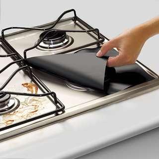 4Pcs Anti-Oil Washable Hob Stove Cover Easy to Install Non-stick