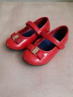 Elle red kids shoes