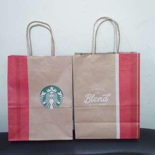 2 Starbucks Paperbag HOLIDAY PRELOVED like NEW