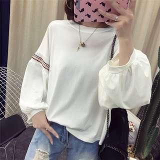 🚚 YF67308 大碼百搭燈籠袖T恤(3色)