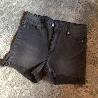 H&M Highwaist Short (wash jeans)